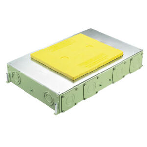 Hubbell Corrosion resistant Recessed Rectangular Floor Box Cover 6 Gang 3 Inch