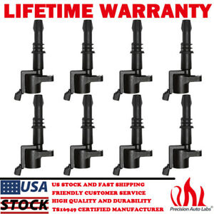 8 Pack Dg511 Ignition Coil On Plug For Ford F 150 Expedition 4 6l 5 4l 2004 2008