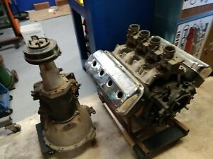 1954 331 Chrysler Hemi Complete Engine With Two Speed Transmission And Many Man