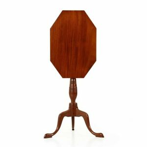 19th Century American Federal Period Tilt Top Candle Stand Accent Side Table
