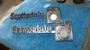 1973 80 Chevy Truck Parts Scottsdale20 Emblems Badges Trim Original Oem Vintage