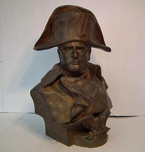 Antique Napoleon Large Bronze Sculpture Bust By Colombo Napoleonic 19th Century