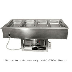Apw Wyott Chdt 2 Electric Drop in Hot cold Food Well With 2 Inset Pans