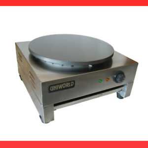 Uniworld Commercial French Crepe Maker Heavy Duty Carbon Plate Stainless Contr