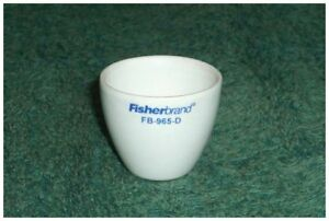 Case Of 48 New Fisherbrand High form Porcelain Crucibles 15ml Fb 965 d