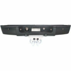 Chevy Silverado 2500 3500 07 13 Rear Bumper Black W sensor Heavy Duty Gm1103152