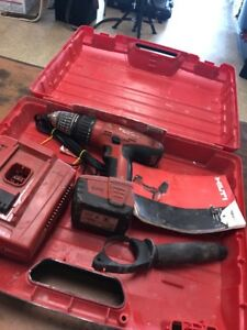 Hilti Hammer Drill Sfh 144 a Battery And Charger Works Great