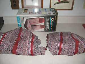 Vintage New Saddleman Saddle Ford Chevy Pickup Truck Seat Covers Full Sz Buckets