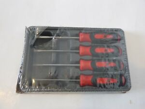 New Snap On 4 Pc Red Soft Grip Mini Tip Combination Screwdriver Set Sgdx40br