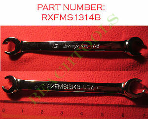 New Snap On 6 Pts Metric Double End Flare Nut Wrench 13mm 14mm Rxfms1314b