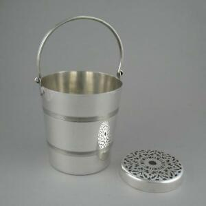 Vintage Art Deco Silver Plated Ice Bucket Wine Bottle Cooler William Suckling