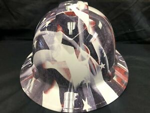 New Full Brim Hard Hat Custom Hydro Dipped Oneal Racing Sticker Bomb Free Ship