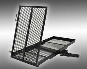 Folding Wheelchair Scooter Carrier Rack Disability Medical Rack Ramp Hitch Mount