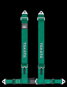 Takata Drift Series Seat Belt Harness Drift Iii Asm Snap 4pt Snap On Green