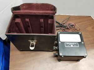 Weston Volts Ac 300 Volt Meter In Hard Leather Case w Probes