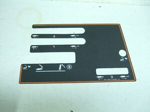 Case David Brown 1494 Console Decal K307916