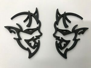 Matte Black Emblem Fit 2018 Dodge Demon Challenger Charger Ram Badges d7