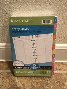 Day timer 2019 Planner Refill 1 Page Per Day Kathy Davis Floral Daily Size 4