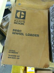 Cat Caterpillar 966c Wheel Loader Parts Book S n 76j 30k