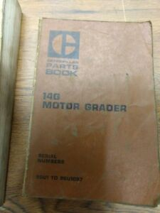 Caterpillar 14g Motor Grader Parts Book