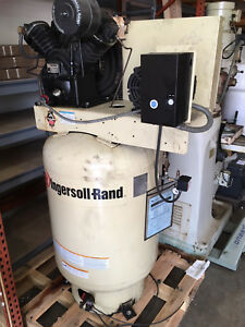 Ingersoll Rand Air Compressor 120 Gallon Model 2545k10 3 Phase 220v