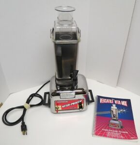 Vita Mix 4000 Commercial S s Blander juicer Processor And Book
