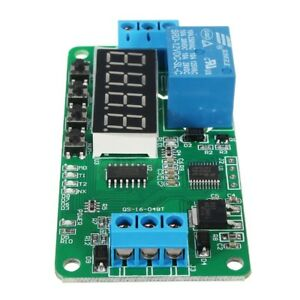 10pcs Dc 12v Plc Self Lock Delay Relay Multifunction Cycle Timer Module Switch