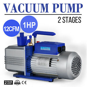 12cfm 2 Stages 1hp Refrigerant Vacuum Pump New Tools Dual Stage Ac Conditioning