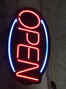 Neon open Sign 31 X 19 X 4 In