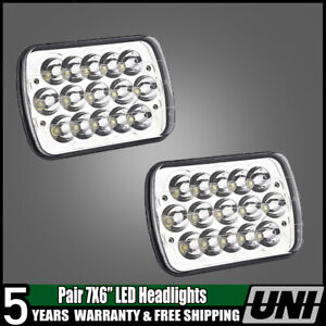 Rectangle Sealed Beam Headlamps Headlights L R Set Of 2 For Chevy Pickup Truck