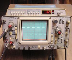 Tektronix 475 200mhz Portable Dual Channel Analog Oscilloscope Dm44 Multimeter