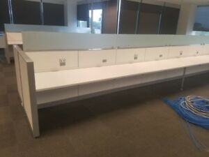 200 Steelcase Benching Desks Open Plan Used Office Cubicles California
