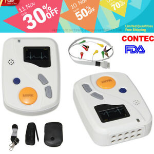 Contec 12 Channel Ecg Holter 48 Hours Holter Tlc6000 Ecg ekg Monitor software ce