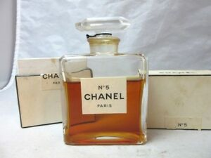 Rare Vintage Chanel No 5 Extrait Mm Perfume Bottle Box