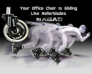 Rollerblade 3 Office Chair Caster Wheels Agas Brand Best In The World Set Of 5