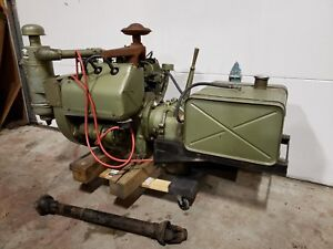 Wisconsin Vh4d Engine W Rockford Clutch Transmission Pto Gas Tank Restored