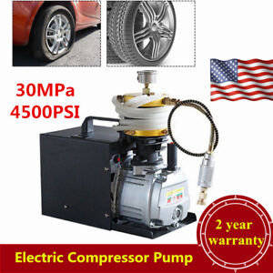 110v 30mpa Electric High Pressure Pump Pcp Air Compressor Usa Stock