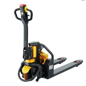 Apollolift Full Electric Pallet Truck With 3300lbs Capacity 48 X27 Fork