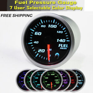 Electric 0 140 Psi Fuel Pressure Gauge Chrome Face 2 Diameter 1 8 Npt