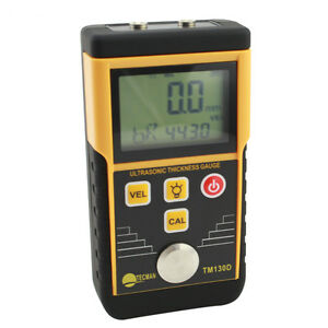 Tm130d Digital Ultrasonic Thickness Gauge Metal Steel Thickness Tester 1 2 220mm