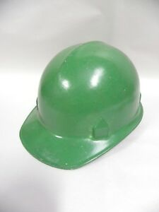 Vintage Jackson Products Green Fiberglass Construction Safety Hard Hat a8