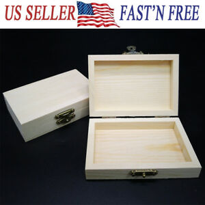 2pack Wooden Gift Box For Jewelry Earrings Necklace Bracelet Storage Organizer