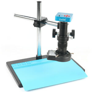 Industry Video Microscope Camera Set System Mount Lens For Phone Pcb Soldering