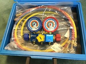 Yellow Jacket Type Imperial 3 valve Kwik Charge Manifold New Hose Set