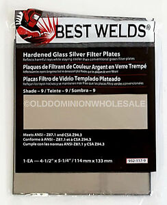 X25 Best Welds 932 117 9 Protection Hardened Glass Silver Plate 4 5 X 5 25