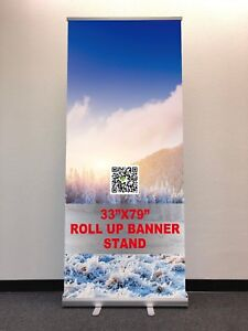 33 81 Retractable Roll Up Banner Stand free Printing Shipping local Pick Up