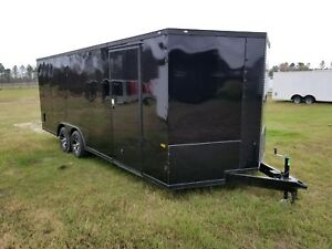 New 8 5x20 Stealth Blackout Enclosed Cargo Trailer 5 Year Warranty Free Upgrades