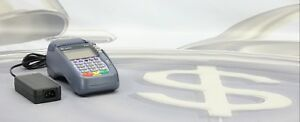 Verifone Vx570 Credit Card Reader Terminal Pin Pad Omni 5700 With Adapter