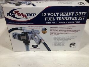 Ag Smart 12 Volt Heavy Duty Diesel Fuel Transfer Pump For Barrel Or Tank