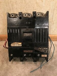 450 Amp General Electric Circuit Breaker 3 Pole 60hz